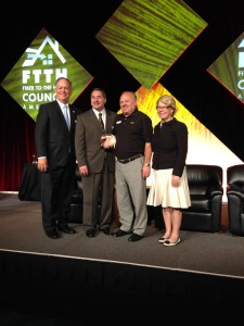Mike Hill Receives FTTH's Photon Award